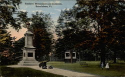Soldiers Monument and Common, Brattleboro, Vt