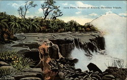 Lava Flow, Volcano of Kilauea, Hawaiian Islands Postcard