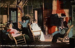 Old Sitting Room, Volcano House Postcard