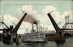 Steamer J. S. Passing Throught New McKinley Bridge