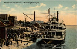 "Excursion Steamer ""J.S."" Landing Passengers"