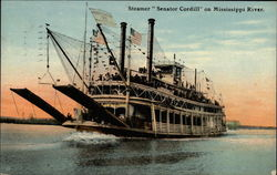 "Steamer ""Senator Cordill"" on Mississippi River"