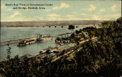 Bird's Eye View of Government Locks and Bridge