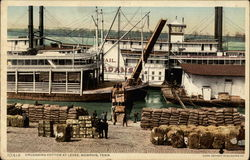 Unloading Cotton at Levee