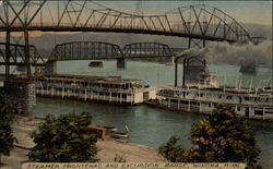 Steamer Frontenac and Excursion Barge