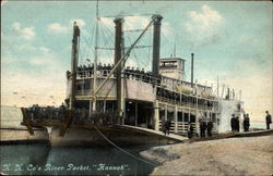 "N.N. Co's River Packet, ""Hannah"""