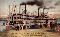 "Steamer ""J.S."", Steamer ""W.W."", and Barge"