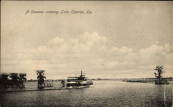 A Steamer entering Lake Charles
