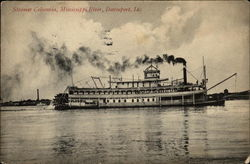 Steamer Columbia, Mississippi River