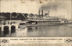 "Steamer ""Dubuque"" of hte Streckfus Steamboat Line"