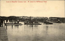 Scene at Beautiful Conesus Lake - Al abord for McPherson Point