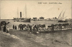Port Said - Kantara Village Postcard