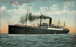 Steamer Magnolia off for the Orient