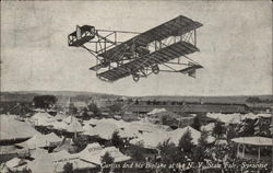 Curtiss and his Biplane at the N. Y. State Fair Postcard