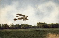U.S. Biplane - Scouting Flight Over Mexican Border