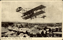 Aeroplane, New York State Fair Postcard