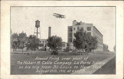 Atwood Flying over Plant of The Hobart M. Cable Company