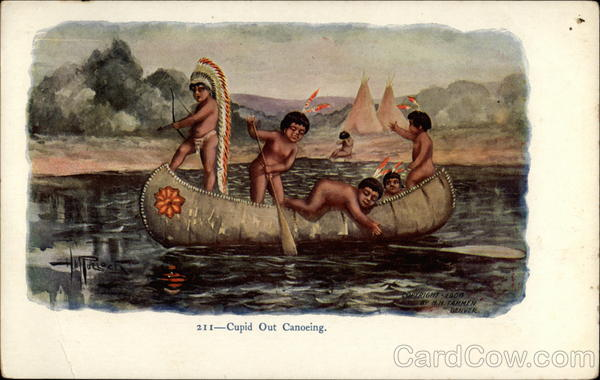 Cupid Out Canoeing H. M. Pollock Native Americana