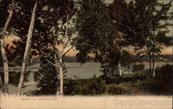 Lake Scene Southport Maine