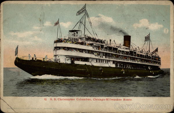 S.S. Christopher Columbus Chicago-Milwaukee Route Boats, Ships