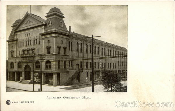 Alhambra Convention Hall Syracuse New York