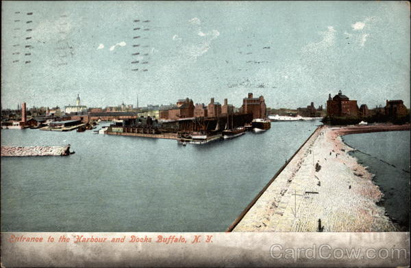 Entrance to the Harbour and Docks Buffalo New York
