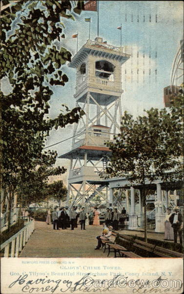 Gladys' Chime Tower Geo. C Tilyon's Beautiful Steeplechase Park Coney Island New York