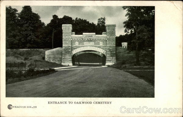 Entrance to Oakwood Cemetery Syracuse New York