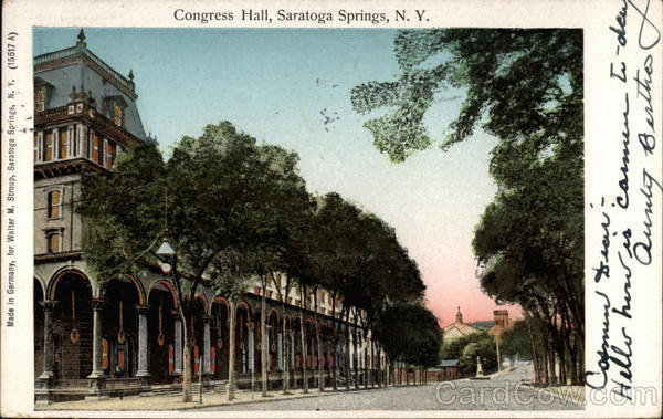 Congress Hall Saratoga Springs New York