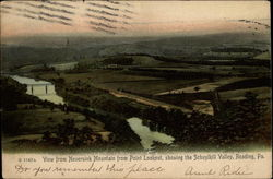 View from Neversink Mountain from Point Lookout, showing the Schuylkill Valley