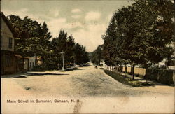 Main Street in Summer Postcard
