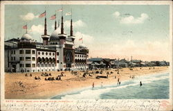 Bath House and Beach Postcard