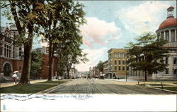 Genesee St., Looking East from Post Office Postcard