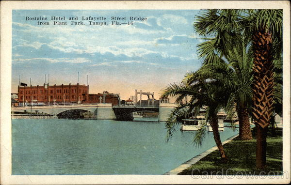 Bostains Hotel and Lafayette Street Bridge Tampa Florida