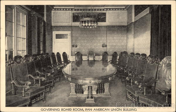 Governing Board Room, Pan American Union Building Washington District of Columbia