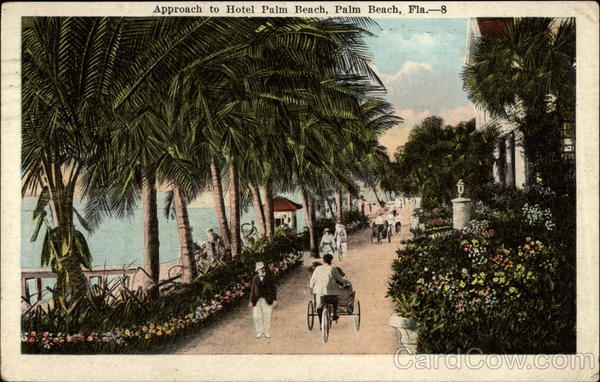 Approach to Hotel Palm Beach Florida
