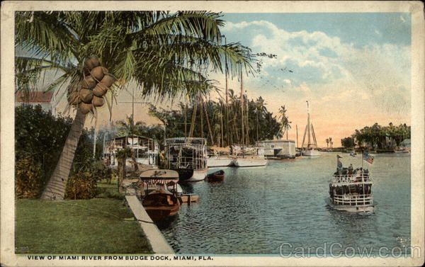 View of Miami RIver from Budge Dock Florida