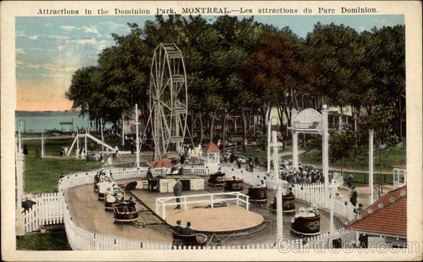Attractions in the Dominion Park Montreal QC Canada
