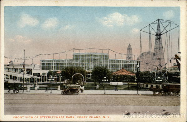 Front View of Steeplechase Park Coney Island New York