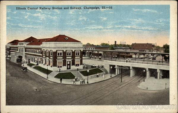 Illinois Central Railway Station and Subway Champaign