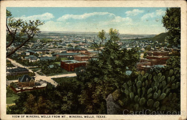 View of Mineral Wells from Mt. Mineral Wells Texas