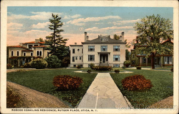 Roscoe Conkling Residence, Rutger Place Utica New York