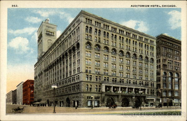 Auditorium Hotel Chicago Illinois