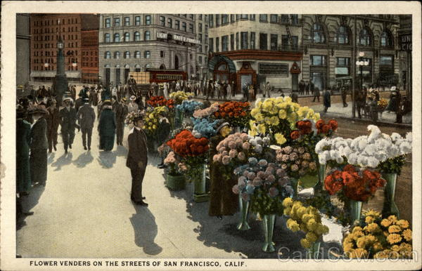 Flower Venders on the Streets San Francisco California