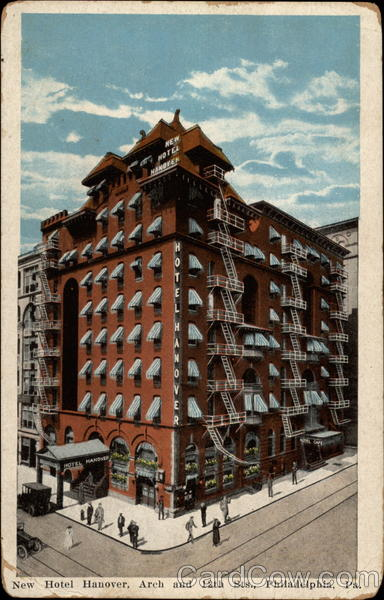 New Hotel Hanover, Arch and 112th Sts Philadelphia Pennsylvania