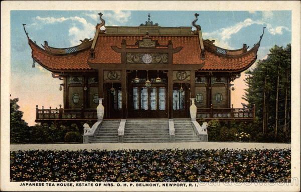 Japanese Tea House, Estate of Mrs. O.H.P. Belmont, Newport, R.I Rhode Island