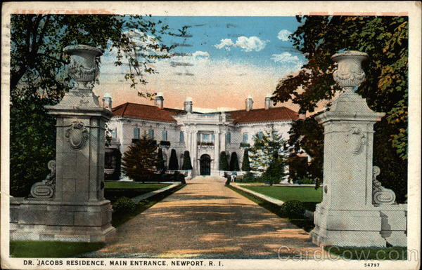 Dr. Jacobs Residence, Main Entrance Newport Rhode Island