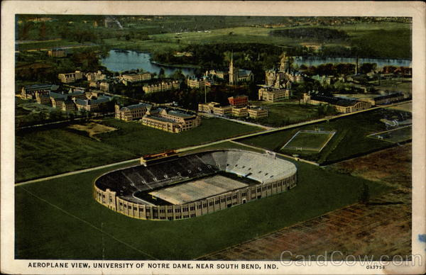Aeroplane View, University of Notre Dame South Bend Indiana