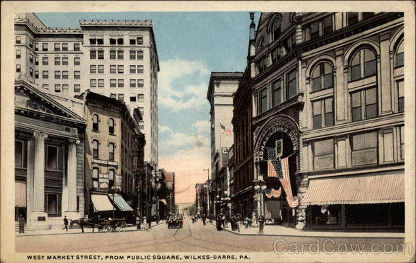 West Market Street, From Public Square, Wilkes-Barre, PA Pennsylvania