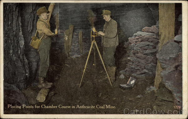 Placing Points for Chamber Course in Anthracite Coal Mine